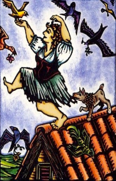 The Fool, World Spirit Tarot