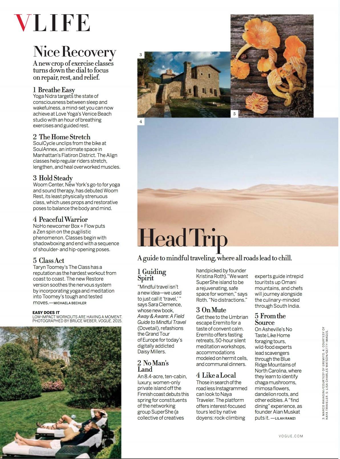 """""""Head Trip,"""" Vogue, January 2018"""