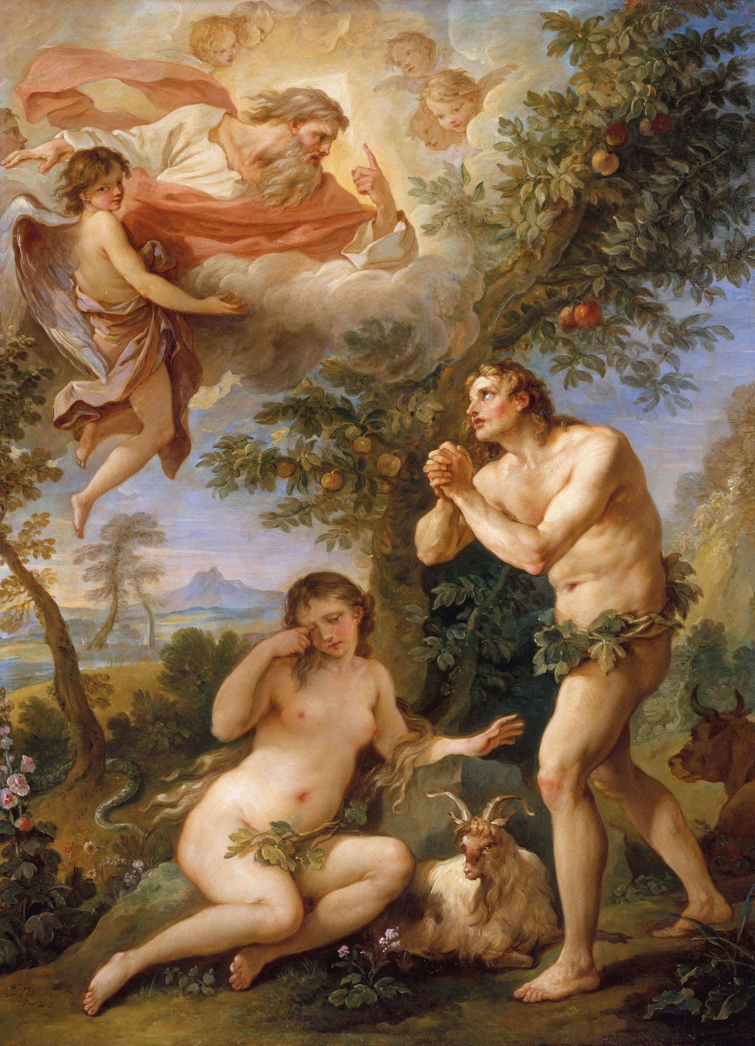 The Expulsion from Paradise, Charles Joseph Natoire, 1740